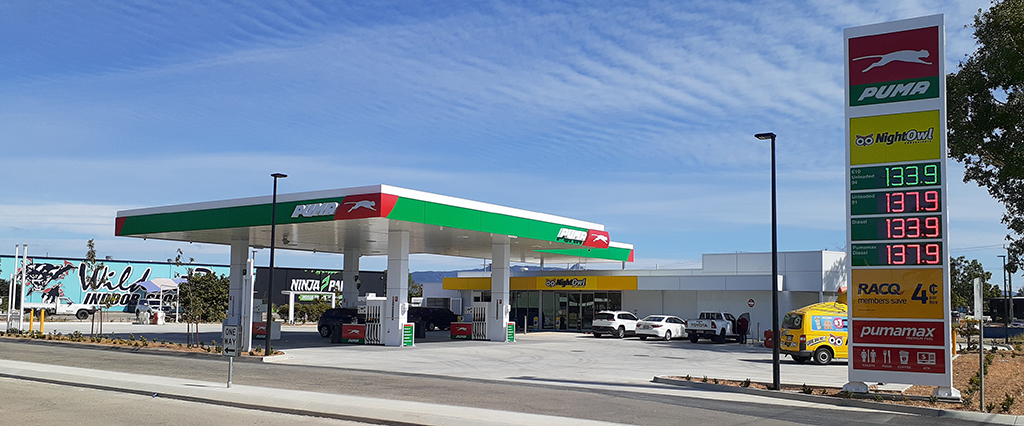 NightOwl Hervey range road Puma fuel site